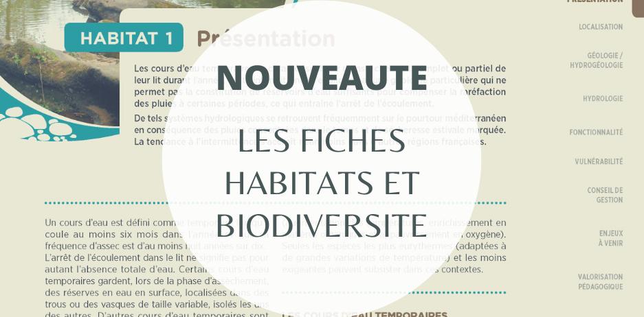 ***NOUVEAUTE : Fiches Habitat et Biodiversité des cours d'eau temporaires des Maures***