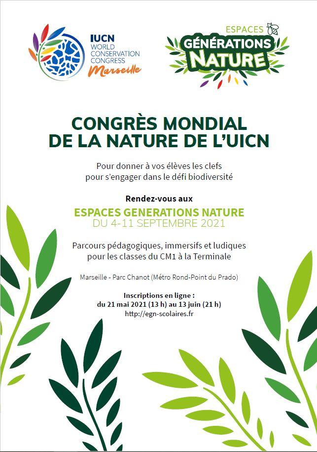 Congrès Mondial de la Nature de l'UICN: les inscriptions pour les visites scolaires sont ouvertes!