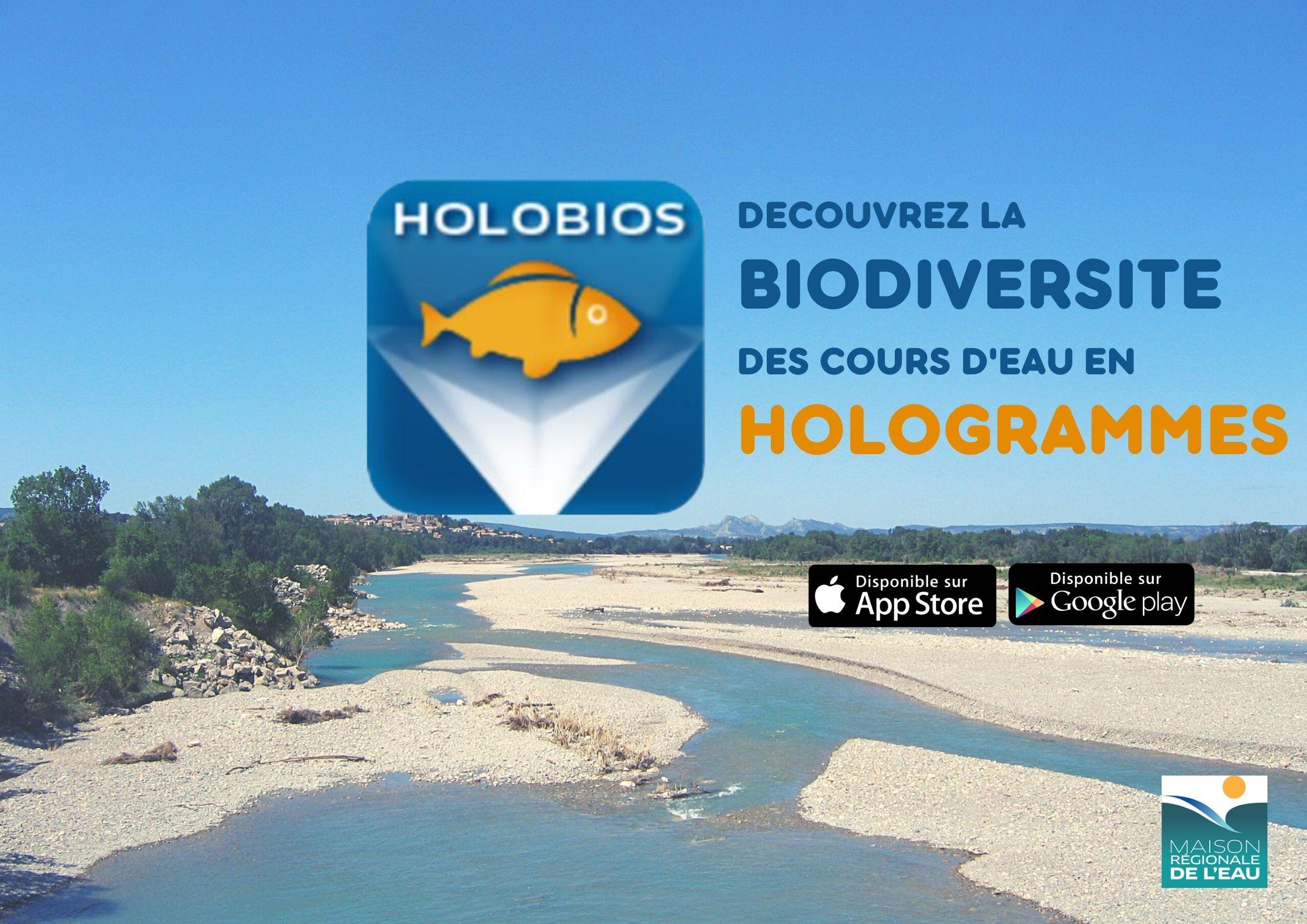 Application gratuite HOLOBIOS : découvrez la biodiversité des cours d'eau en hologrammes!