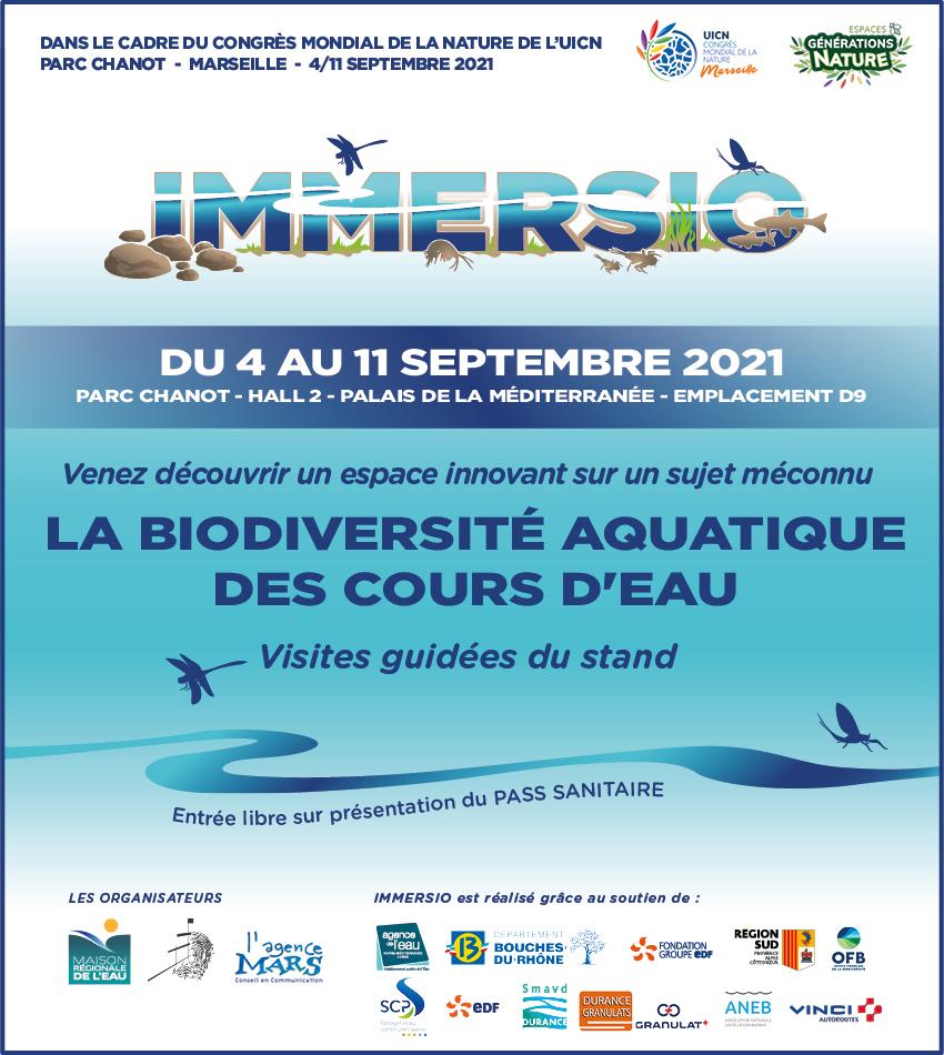 *** IMMERSIO au Congrès Mondial de la nature – du 4 au 11 septembre, Parc Chanot , Marseille***