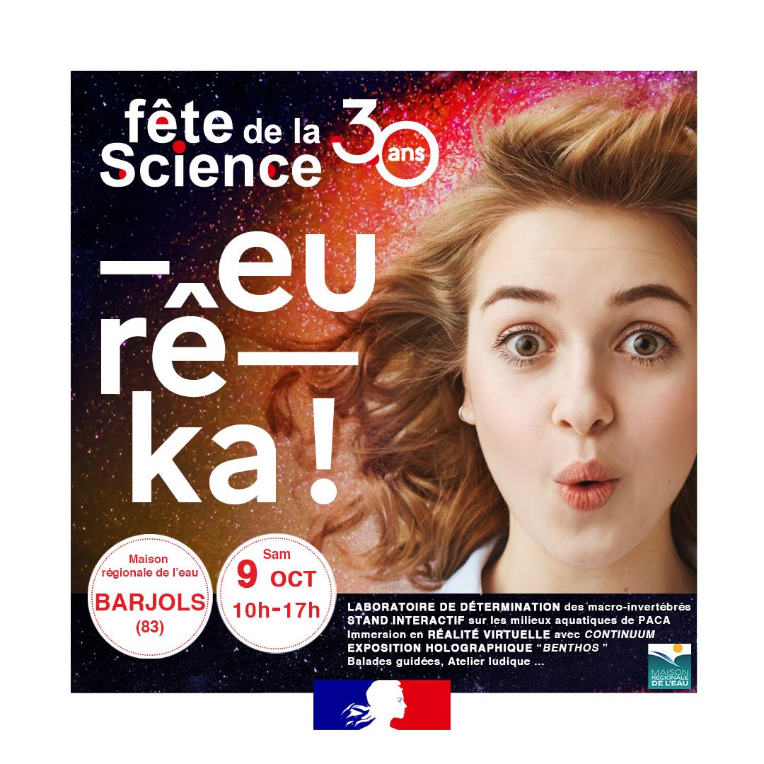 La Maison régionale de l'eau fête la science le 2 octobre à Avignon et le 9 octobre à Barjols!